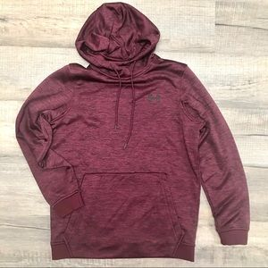 UNDER ARMOUR Maroon Thick Athletic Hoodie Sz S